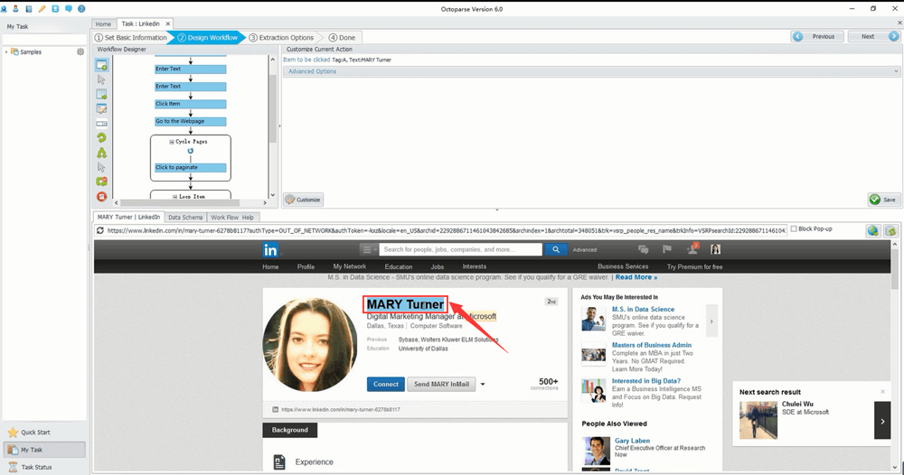 How to Extract Information from LinkedIn? | Octoparse