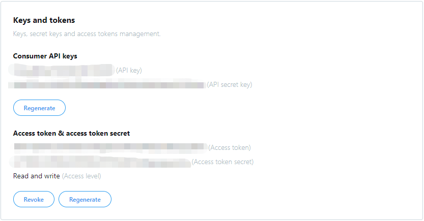 The results we got after applying for Twitter API