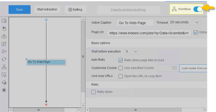 toggle workflow switch