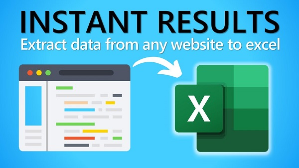 how to download websites data to excel